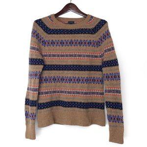 J. CREW Tan Wool Sweater Size M